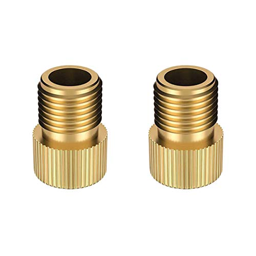 2Pcs Messing Presta zu Schrader Bike Valve Adapter Adapter Konverter