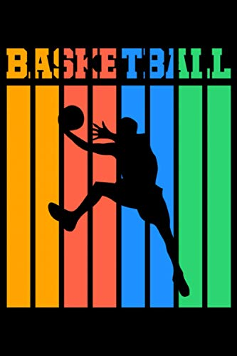 Basketball: A5 Liniertes Notizbuch auf 120 Seiten - Basketball Notizheft | Geschenkidee für Basketballspieler, Basketball Spieler, Basketball Vereine und Mannschaften