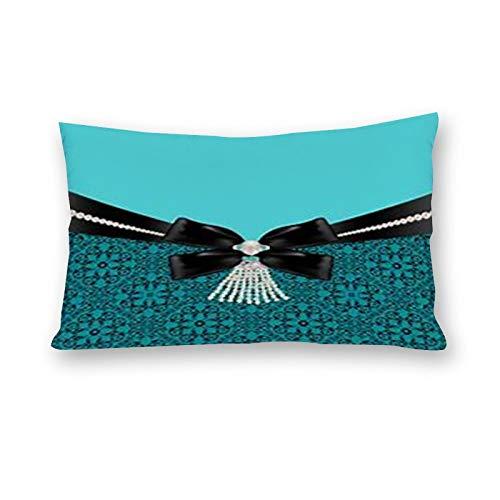 DKE&YMQ EU02-0bn25w2dz0xs-1,Cotton Material Pillowcase Double,Blue Green Teal Turquoise Aqua Jewellery Pattern Fashion Accessory Body Jewelry Azure