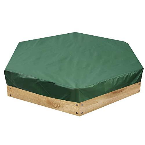 Zandbak hoes, Oxford doek zeshoekige zandbak hoezen met trekkoord voor huis tuin outdoor zwembad UV bescherming stofdichte zandbak Cover Zwembad Cover 230 x 200cm