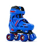 SFR Storm IV Adjustable Quad Skates Patines, Juventud Unisex, Blue/Red (Multicolor), 35.5
