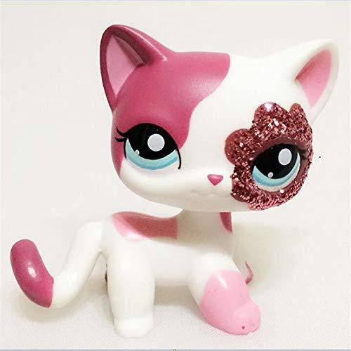 LUPPS #2291 Pink White Sparkle Glitter Short Hair Cat Blue Eyes
