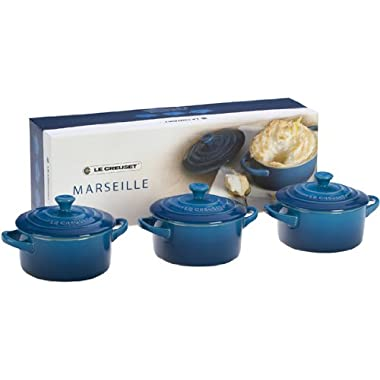 Le Creuset Stoneware Petite Round Casserole Gift Set, Marseille
