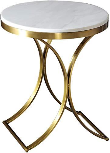 BUSUANZI Mesa Redonda Moderna, con Marco de Metal de Oro, mármol, Superior, al Aire Libre, la Noche de la Mesa