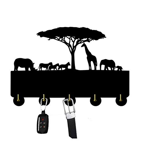 SQINAA decoración de la Pared Ganchos, Puerta del hogar Decoración Animal Ganchos, Multi-función de Gancho de la Pared Soporte para Llaves, Carteras, Ropa Coat