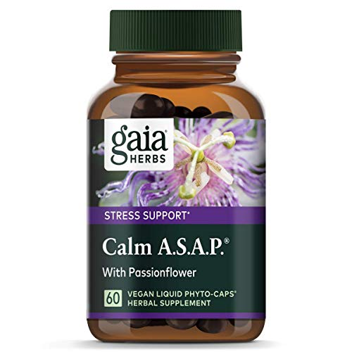 Gaia Herbs Calm A.s.A.P, Vegan Liquid Capsules, 60Count – Natural Calming Supplement to Help Reduce Occasional Anxiousness & Tension, Non Drowsy, Non Habit Forming with Lavender, Holy Basil