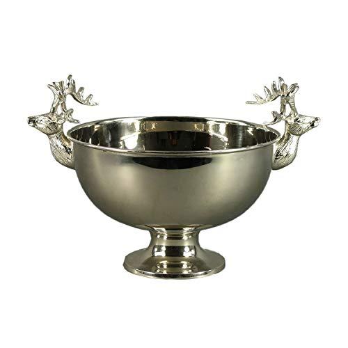 Champagnerkühler ENGADIN - mit Hirsch - Sektkühler - Kübel - Schale auf Fuß