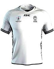 Aitry Camiseta de Rugby, Camiseta Nacional de Fiji de la Copa Mundial de Fans All Black Entrenamiento Manga Corta Local Fuera