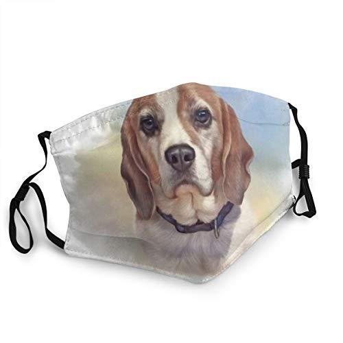 Bandana riutilizzabile a mezza faccia,Fauna selvatica Doggy degli animali del cane dell'amico del cane da lepre dipinta canino realistico del predatore,Coprivaso sportivo regolabile