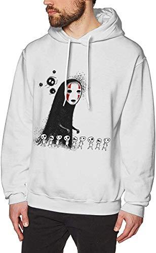 'N/A' Soot Sprites Kodama No Face Man Mens Pullover Hooded Sweatshirts Hoodie Sweaters