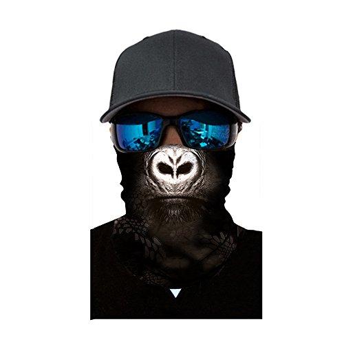 JIekyoi Al Aire Libre 3D Balaclava Moto Pasamontañas Calavera Multifuncional Bufanda Prueba de Viento Microfibra Elástico Pañuelos Cabeza Bandana Esquí Ciclismo Bici Máscara Facial Protección UV