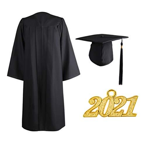 Amosfun Chapéu de formatura com borla 2021 charmosos estola cordão de honra 2021 pingente para formatura de solteiro sênior do ensino médio (tamanho 45)