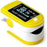 HZWLF Detector de saturación de oxígeno en la Sangre del Pulso del Clip del Dedo, Monitor de Ritmo cardíaco con oxímetro de Pantalla LED