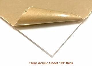 "Clear Acrylic Plexiglass Sheet - 1/8"" Thick Cast - 24"" x 36"""