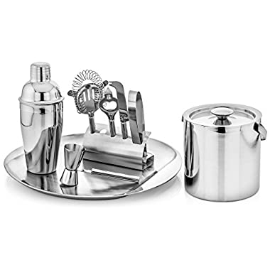 GSCW Bar Set with Ice Bucket and Serving Tray