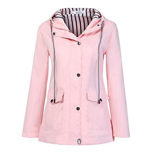 ZEELIY Winter Mantel Damen,Langer Mantel Revers Parka Jacke StrickjackeOutwear