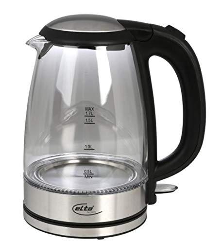 Elta Glas Wasserkocher Premium STRIX S2500s, schwarz
