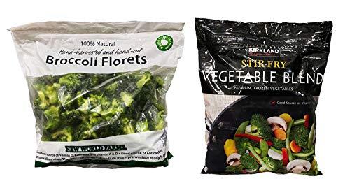 カークランド ブロッコリー 100%ナチュラル 2.27Kg & ステア フライ ベジタブル ブレンド 2.49Kg 【冷凍野菜】セット