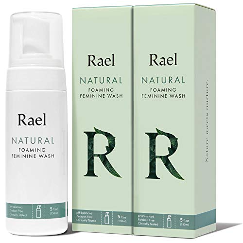Rael Natural Foaming Feminine Wash - 5oz, 2Packs, Daily Intimate, pH-Balanced, easy Travel, Gynecologist Tested, Light & Fresh Scent, Total 10 Ounce