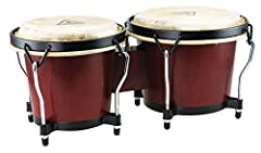 """Constructed of hand selected Siam Oak Wood 6"""" & 7"""" drums with water buffalo skin heads Black powder coated traditional hoops, reinforced side plates, 5/16"""" diameter tuning lugs and backing plates Ideal for beginners and percussion enthusiasts Tuning ..."""