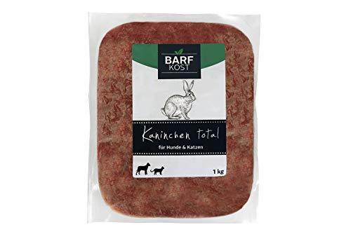 BARF Kost Hundefutter, 100{f314cee8eb8a5deb170837063d1590d560546e49ee6dd83b92e1a65fc2b725e3} Kaninchen, Barf Futter, Frischfleisch Hund, Fertigbarf, (12 kg - 30 kg)