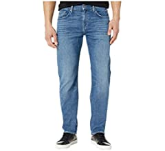 7 For All Mankind Mens Austyn Relaxed Fit Straight Leg Jeans 36W x 36L Lyons Night 36