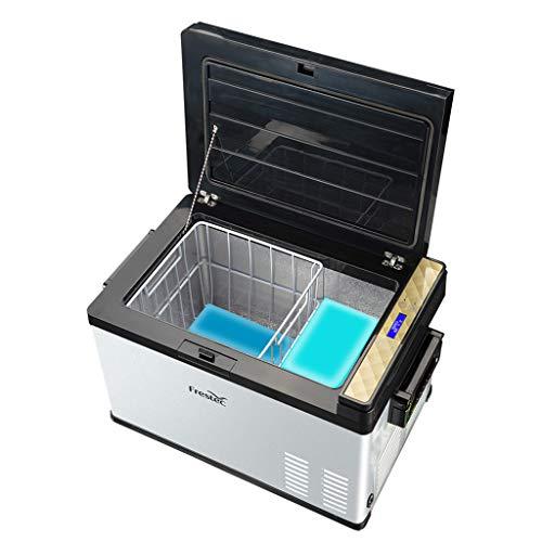 25 Litri Frigorifero Portatile Congelatore Uso Auto Frigorifero Frigo per Uso Domestico con Compressore, Dual Zone, Display LCD, -25 ° C ~ 30 ° C, 12V   24V   110V ~ 240V