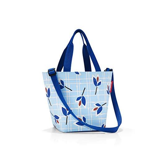 Reisenthel Shopper XS Printed Strandtasche, 31 cm, 4 L, Blue Leaves