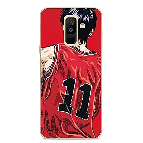 SHUAIJA Thin Clear Coque Transparent Soft Slim TPU Crystal Case Cover For Samsung Galaxy A6 Plus/J8 2018/A9 Star Lite-Slam-Dunk Basketball Japanese 1