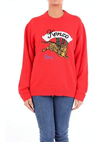Kenzo springen Tiger gestrickt Pullover rot Large RED