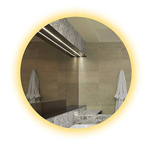QSJZ Miroir LED HD für Leuchtmittel ohne Leuchtmittel - Interrupteur Tactile + Anti-buée (Leuchtmittel Blanche/Leuchtmittel chaude en Option)