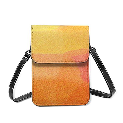 Bauhaus - Bolso bandolera para mujer, diseño de acuarela, con bolsillo múltiple, 9 lápices de colores abstractos, Talla única