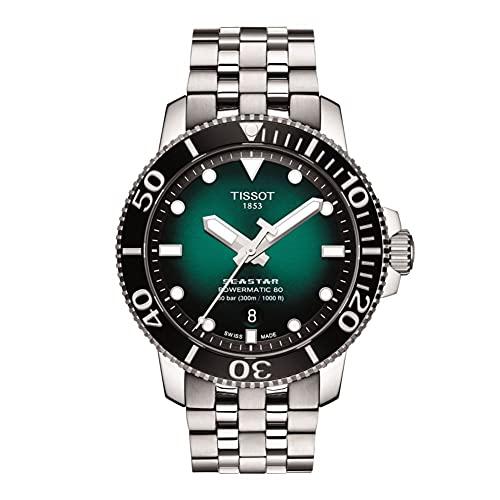 Tissot Seastar 660/1000 - Orologio svizzero automatico in acciaio inox, grigio, 21 orologio casual (modello: T1204071109101)