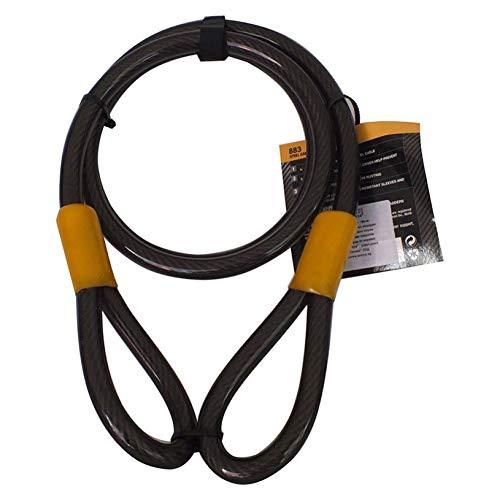 Cavo con doppio loop bici Lock lucchetti di sicurezza–Heavy Duty motocicletta bicicletta accessori–impermeabile–resistente–15mm diametro x lunghezza 1800mm–modello 883