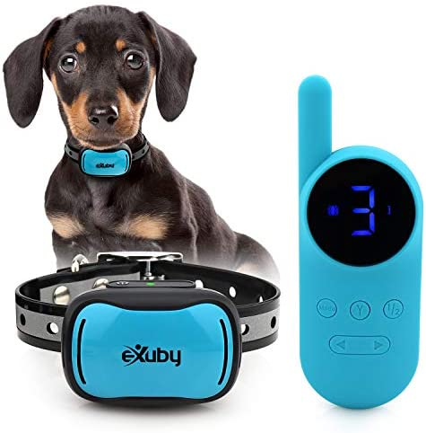 eXuby Tiny Shock Collar for Small Dogs 5 15lbs Smallest Collar on The Market Sound Vibration product image