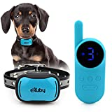 eXuby - Tiny Shock Collar for Small Dogs 5-15lbs - Smallest Collar on The Market - Sound, Vibration, & Shock - 9 Intensity Levels - Pocket-Size Remote - Long Battery Life - Waterproof