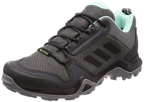 adidas Womens Terrex AX3 GTX W Walking Shoe, Grey/Core Black/Clear Mint, 41 1/3 EU
