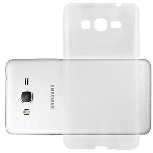 Cadorabo Funda para Samsung Galaxy Grand Prime en Transparente - Cubierta Proteccíon de Silicona TPU Delgada e Flexible con Antichoque - Gel Case Cover Carcasa Ligera