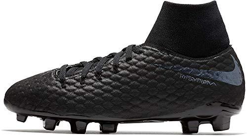 Nike Jr. Hypervenom Phantom III Academy DF Fg, Scarpe da Calcio, Nero (Black/Black-Lt Crimson 001), 36 EU