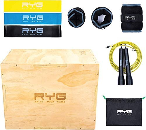 Raise Your Game Wood Plyometric Box Workout Set Plyo Jump Training Agility Crossfit MMA and product image