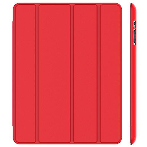 JETech Custodia iPad 2 3 4, Cover con Funzione di Supporto, Auto Svegliati/Sonno, Rosso
