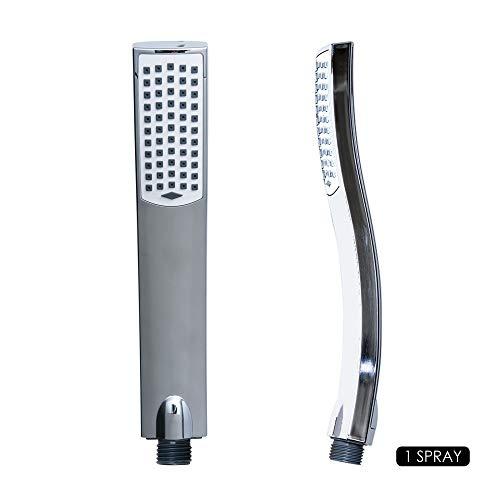Aqualona douchekop, duurzaam, krachtige spray, gemakkelijk te reinigen, stijlvolle afwerking, universeel inzetbaar, aquawave, zilver en wit