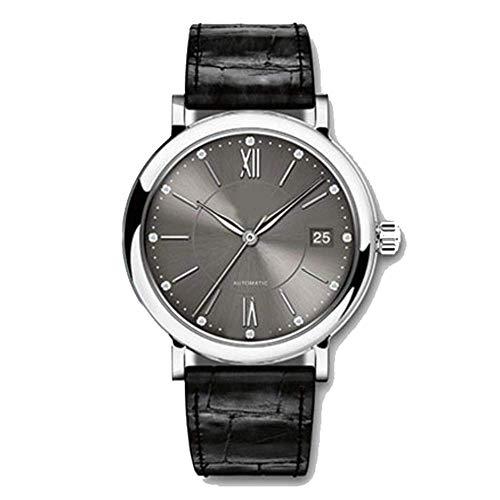 HFJKD - Reloj de cinturón para hombre, de malla, para estudiantes, con tres agujas, acero inoxidable, correa de malla, color marrón, negro