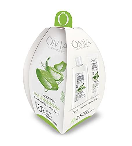 Omia - Ovetto Corpo Aloe Vera, Contiene Bagnoschiuma e Crema Corpo, Nutriente e Idratante, Ottimale per Pelle Mista e Grassa, Dematologicamente Testato