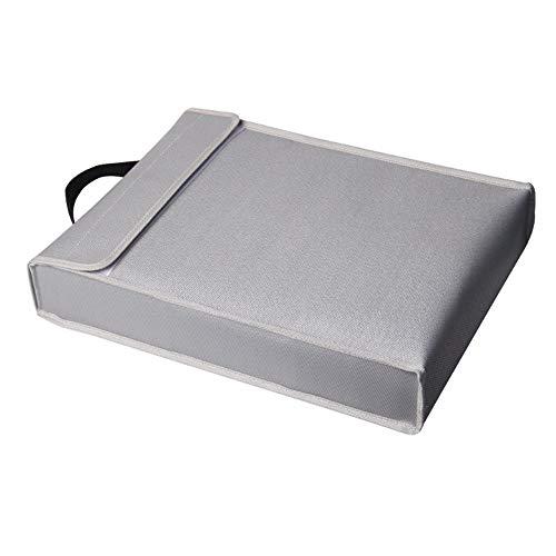 Aibecy Bolsa de almacenamiento para documentos ignífuga, bolsa de seguridad, resistente al fuego y al agua, para portátil, joyas, objetos de valor de 400 x 300 x 65 mm
