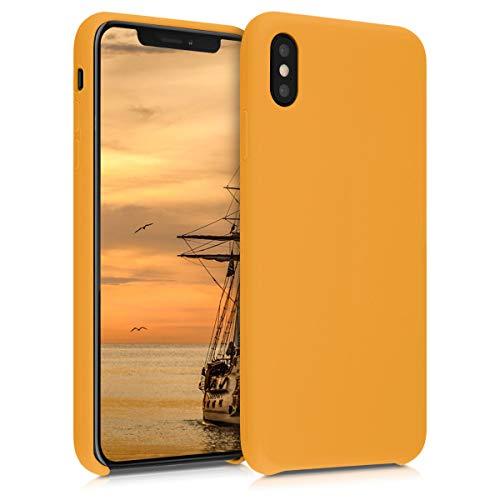 kwmobile Custodia Compatibile con Apple iPhone XS Max - Cover in Silicone TPU - Back Case per Smartphone - Protezione Gommata Giallo Zafferano