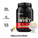 Optimum Nutrition Gold Standard 100% Whey Protein Powder, Vanilla Ice...