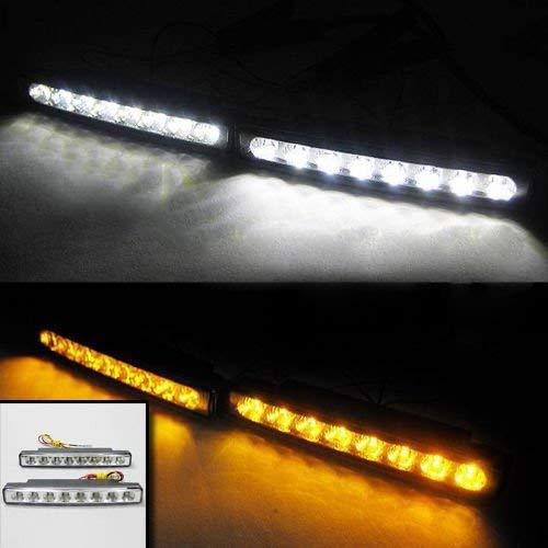 Luz de circulación diurna LED antiniebla DRL luz de día blanca 12 V DC lámpara de cabeza de coche Van Pick Up 4 x 4 Offroad