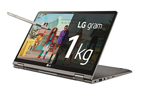"LG gram 14T90N-V-AA78B - Ordenador portátil convertible de 14"" FullHD IPS (Intel Core i7-1065G7, 16GB RAM, 512GB SSD, Windows 10 Home+) Plata - Teclado QWERTY Español"