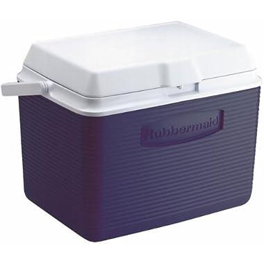 Rubbermaid Cooler, 24 Quart, Blue FG2A1304MODBL